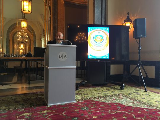 Concert of Colors founder Ismael Ahmed speaks at a media event at the Detroit Institute of Arts on Thursday, May 9, 2019. (Photo: Detroit Free Press)