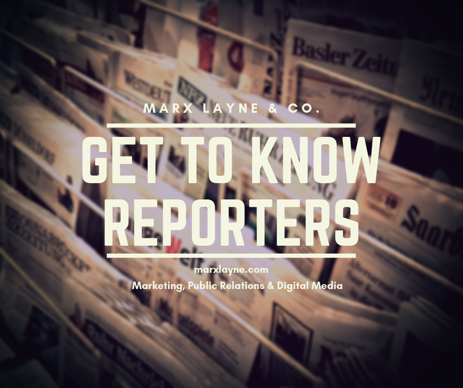 Get to know reporters Media Relations