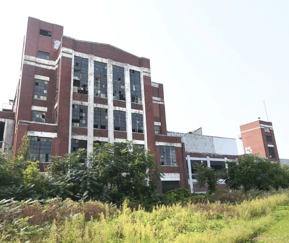 This is the former Cadillac Stamping Plant in Detroit.